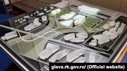 Фото об'ємного проекту нового аеровокзалу Сімферополя, представленого південно-корейською компанією