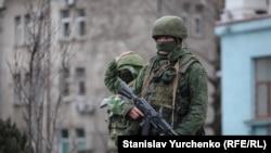 Rusiye askerleri Aqmescitte, 2014 senesi mart ayı