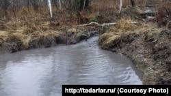 Река Кийзас, загрязненная угольщиками