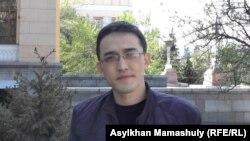 Алмас Жунисбаев, научный сотрудник Института истории и этнологии имени Шокана Уалиханова. Алматы, 21 апреля 2015 года.