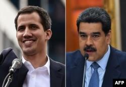 Хуан Гуайдо (ліворуч) і Ніколас Мадуро