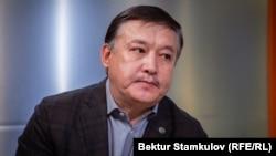 Ахматбек Келдибеков в студии «Азаттыка». 15 октября 2019 года.