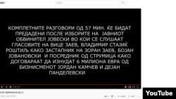 Нелегално снимани разговори на кои наводно се слуша адвокатот Васко Димишков како зборува за случајот Рекет објавени анонимно на Јутуб