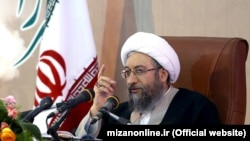Sadegh Amoli Larijani, head of Iran's judiciary. File photo.