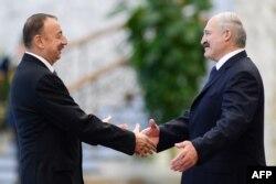 Ільхам Аліеў і Аляксандар Лукашэнка, архіўнае фота