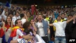 Մադրիդի «Ռեալի» երկրպագուները տոնում են հաղթանակը, 24 մայիսի, 2014թ.