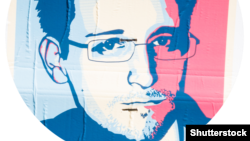 Графический портрет Эдварда Сноудена.