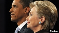 Барак Обама (Л) і Гілларі Клінтон
