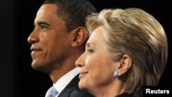 Обама ва Клинтон.