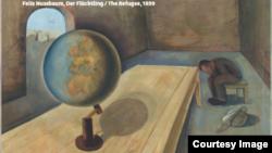 """Фрагмент картины Феликса Ниссбаума """"Беженец"""" (1939) из экспозиции в Берлине"""