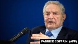 Շվեյցարիա - Միլիարդատեր Ջորջ Սորոսը ելույթ է ունենում Դավոսի Համաշխարհային տնտեսական համաժողովի շրջանակում, 23-ը հունվարի, 2020թ.