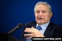 Hungarian-born U.S. investor and philanthropist George Soros (file photo)