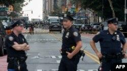 Поліцейські оточили місце вибуху у Нью-Йорку, 17 вересня 2016 року