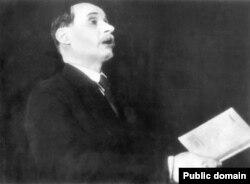 Якуб Колас выступае ў Парыжы, 1935 год