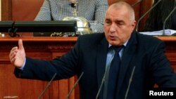 Болгария премьер-министрі Бойко Борисов. София, 20 ақпан 2013 жыл.