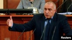 Архива: Бугарскиот премиер Бојко Борисов во Парламентот.