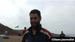 Турецкий парапланерист Коркем Булунг. Алматинская область, Текели, 30 сентября 2012 года.