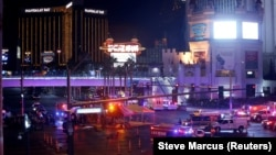 Nevada - Las Vegas Metro Police and medical workers