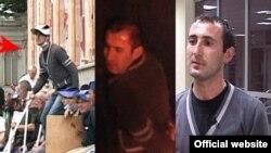 Фотографии,опубликованные МВД (слева направо): Гиоргий Бакрадзе на митинге, после разгона акции и после ареста