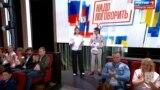 Запись моста в помещении киностудии имени Горького. Ведущие М. Ситтель и А. Малахов