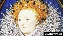 Николас Хиллиард. Портрет Елизаветы I. Миниатюра. Англия, около 1585-1587. Музей Виктории и Альберта