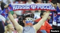 Suporteri ruși la meciul de marți cu Polonia (1:1)