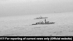 Ռուսական և բրիտանական ռազմանավերը Հյուսիսային ծովում, 26-ը դեկտեմբերի, 2017թ․