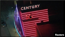 "U.S. -- The Century 16 mall was a shooting took place during premiere of the new Batman film, ""The Dark Knight Rises."" 20Jul2012"