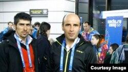 ستار صید (چپ) در سوچی روسیه برای رشته صحرانوردی