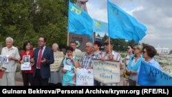 Акція солідарності з кримськими політзаручниками, Мелітополь, 26 серпня 2016 року