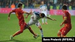 Фрагмент матча в Подгорице