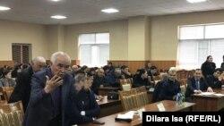 Встреча активистов с должностными лицами по обсуждению тарифов. Шымкент, 22 января 2020 года.