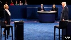 Pamje nga debati i dytë presidencial Trump - Clinton i mbajtur më 9 tetor