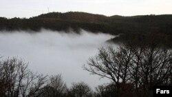 جنگل ابر در شاهرود. فرسایش خاک در ایران پوشش گیاهی کشور را بهشدت تهدید میکند.