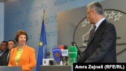 Catherine Ashton i Hashim Thaci