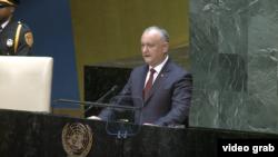 Președintele Igor Dodon vorbind la Adunarea Generală ONU la New York, 25 septembrie 2019