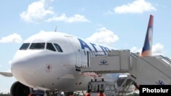 Armenia -- A passenger jet belonging to Armavia airlines at Yerevan's Zvartnots airport, 16Sep2010