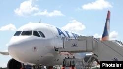 Armenia -- A passenger jet belonging to Armavia airline at Yerevan's Zvartnots airport.