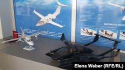 Макеты будущих малых самолетов, которые планировали строить на карагандинском авиазаводе. 9 августа 2016 года.