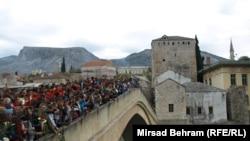 Церемония памяти на 20-летие уничожения Старого моста в Мостаре. 9 ноября 2013 г.