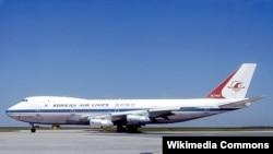 Një aeroplan i Kompanisë Korean Air Lines
