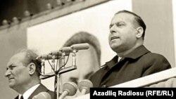 1971-ci ilin 1 may nümayişi. Heydər Əliyev.