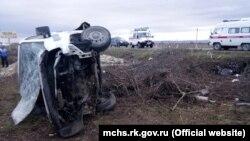 Последствия ДТП на трассе Симферополь-Феодосия, 12 ноября 2017 года