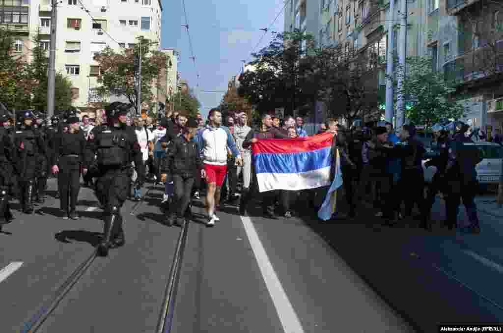 Protivnici gej parade.