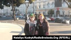 Діана Блащук із мамою Оксаною на вулицях Рима