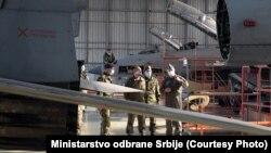 Odlazeći ministar odbrane Srbije Aleksandar Vulin na vojnom aerodromu u Batajnici, 27. oktobar