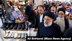 Head of Iran's Judiciary Ebrahim Raisi, visiting Tabriz Grand Bazar during his trip to Tabriz, East Azarbaijan province, on October 31, 2019.