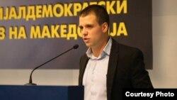 Стефан Богоев, претседател на социјалдемократската младина. СДММ.