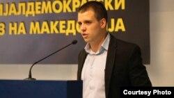 Стефан Богоев, претседател на Социјалдемократската младина.