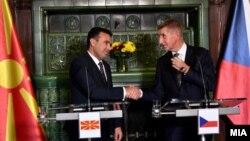Премиерот на Северна Македонија, Зоран Заев, и премиерот на Чешка, Андреј Бабиш, во Прага